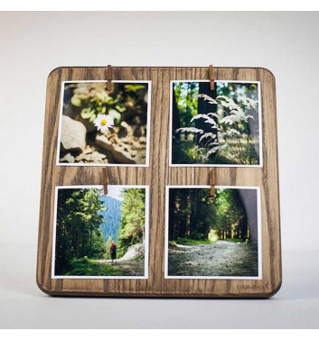 "Photo Frame ""Square Large"" (Brown)"
