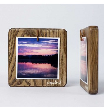 Square and rectangular wooden photo frames with hooks in the Shos ...