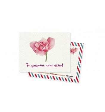 Мини-открытка Mirabella postcards Цветок
