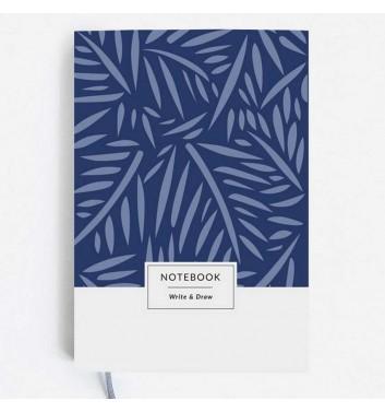 """Блокнот Write&Draw """"Blue Leaves"""""""