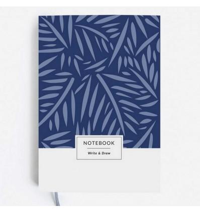 """Блокнот Write & Draw """"Blue Leaves"""""""