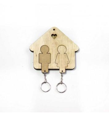 Ключница «Домик Семья» Light
