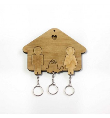 "Housekeeper ""House Family + Cat"" Light"