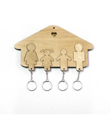 "Housekeeper ""House Family + Girl + Boy"" Light"
