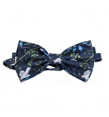 """Bow tie """"Blue dark birds"""""""