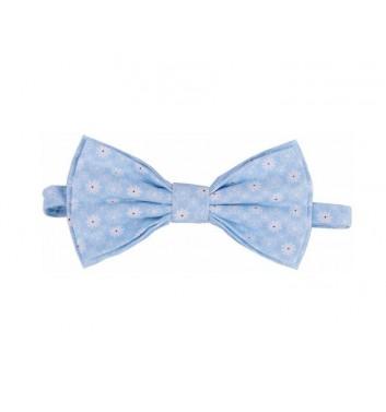 "Bow tie ""Blue light flowers"""