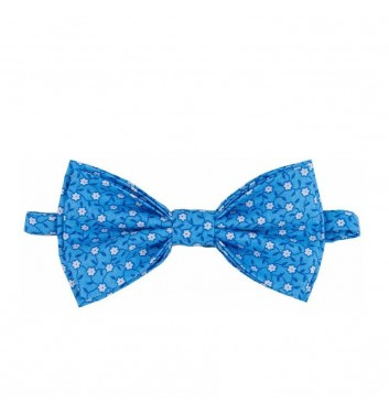 "Bow tie ""Blue light white flowers"""