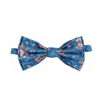 "Bow tie ""Blue flowers"""