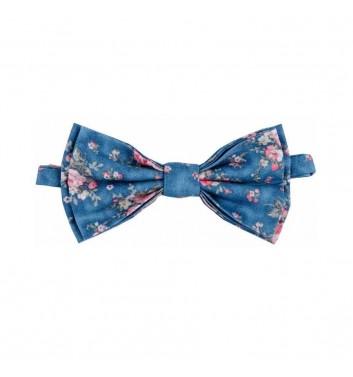 """Галстук-бабочка """"Blue flowers"""""""