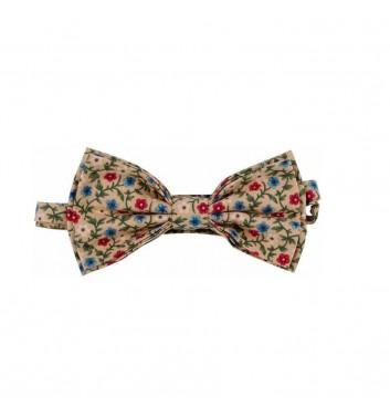 "Bow tie ""Yellow dark flowers"""