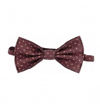 "Bow tie ""Brown dots"""