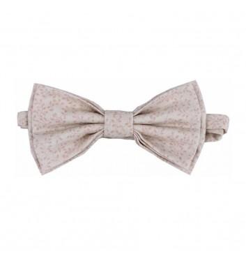 "Bow tie ""Beige light leaves"""