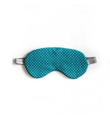 """Sleep mask """"Classic"""" Turquoise polka dots"""