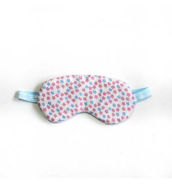 """Sleep mask """"Classic"""" White with flowers"""