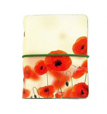 Business card holder Poppies