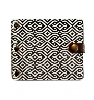 Wallet with clamp Black pattern