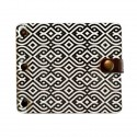 Wallet with clamp Shirma Black pattern