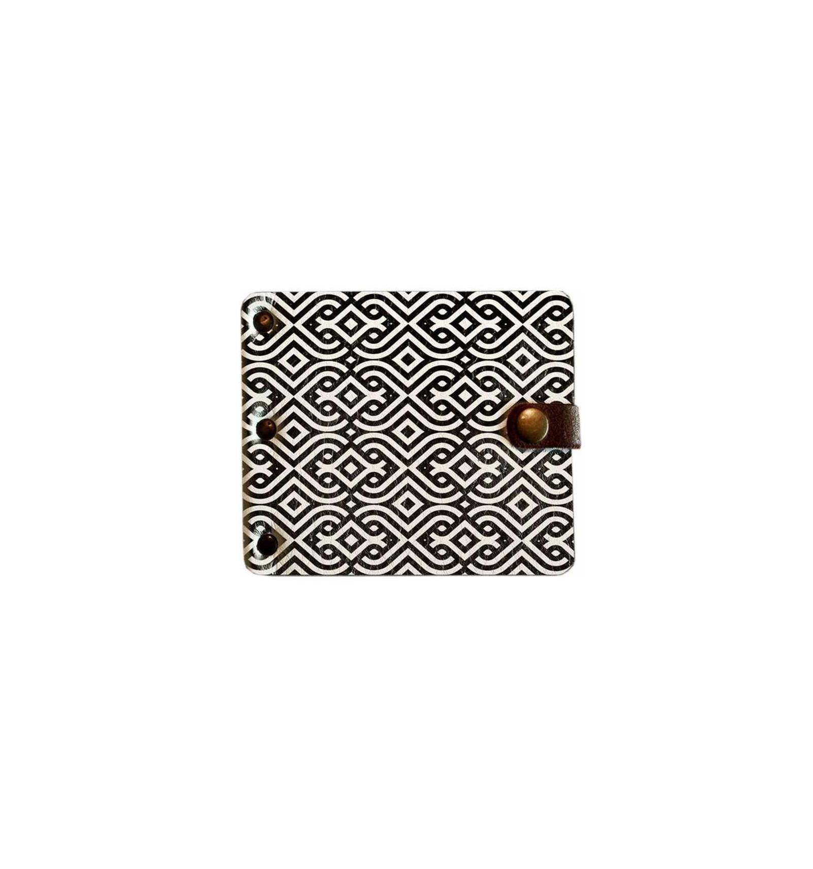 f8086918ab25 Кошелек с зажимом Shirma Черный узор | Оригинальный зажим для денег