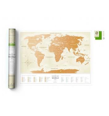 Скретч карта світу 1dea.me Travel map Gold World UA