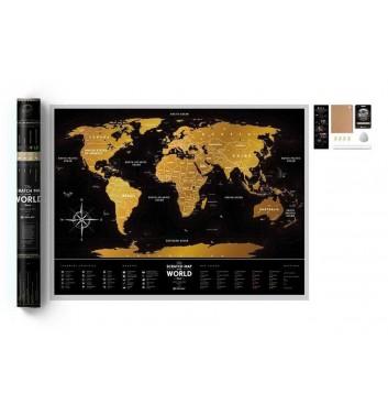 "Скретч карта світу Travel map ""Black World"""