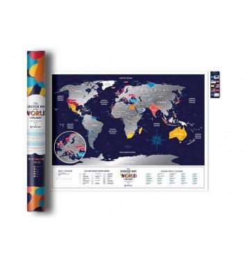 Скретч карта світу Travel Map «Holiday World»