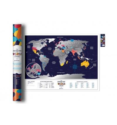 Скретч карта мира Travel Map «Holiday World»