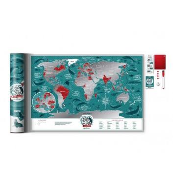 Скретч карта мира Travel Map «Marine World»