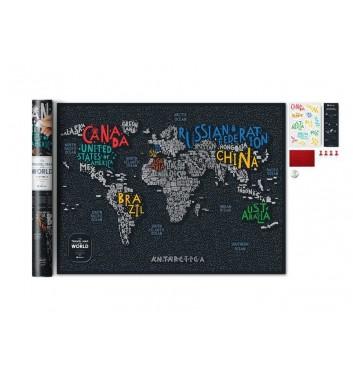 Скретч карта мира Travel Map «LETTERS World»