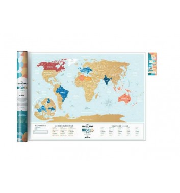 Scratch World Map Travel Map «Holiday LAGOON World»