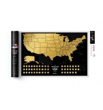 Скретч карта США Travel Map «USA Black»