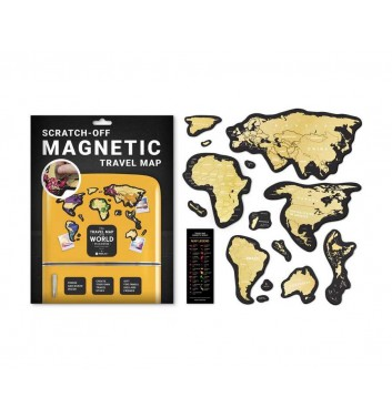 Скретч карта мира Travel Map «MAGNETIC World»