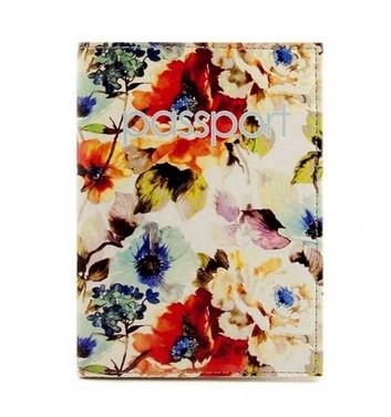 "Passport cover ""Bouquet"""