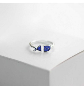 "Ring ""Blue fish"""