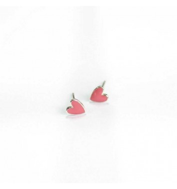 "Сережки ""Heart pink"""