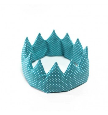 "Crown ""Turquoise polka dots"""