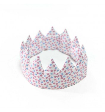 "Crown ""White with flowers"""