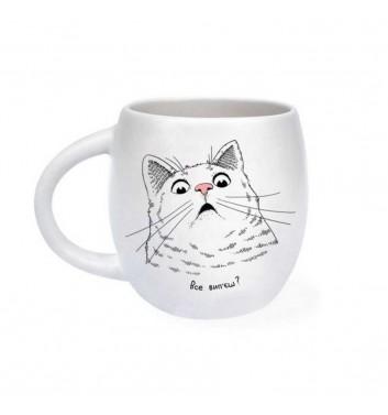 Чашка «Здивований кіт»