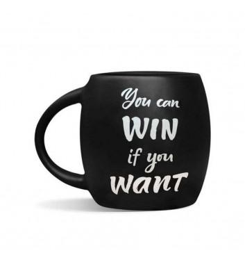 Чашка черная «You can win»