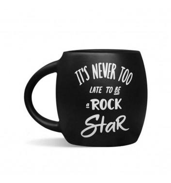 Чашка черная «Rock star»