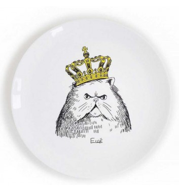 """Plate """"Cat in the Crown"""" Orner Store Shos"""