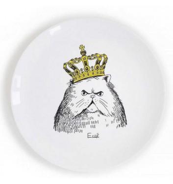Тарілка «Кіт в короні» Orner Store Шось