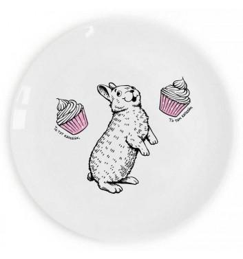 Тарілка «Кролик і капкейк» ласун Orner Store ШОСЬ