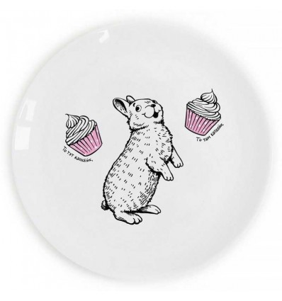 "Plate ""Rabbit and cupcake"" glutton Orner Store SHOS"
