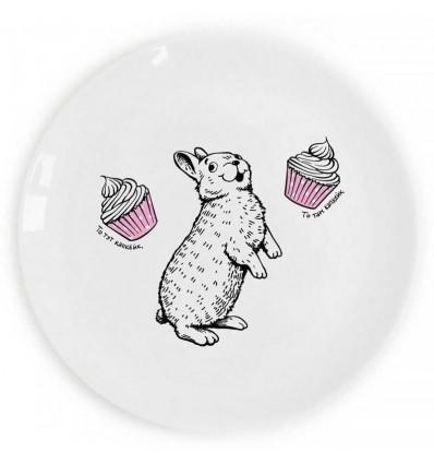 Тарелка «Кролик и капкейк» сладкоежка Orner Store ШОСЬ