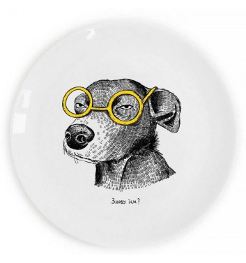 """Plate """"The Dog of the Suspect"""" Orner Store ШОСЬ"""
