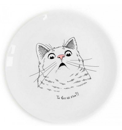 "Plate ""Surprised Cat» Orner Store SHOS"