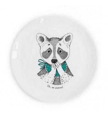 """Plate """"Raccoon Lasoon"""""""