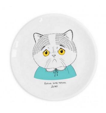 """Plate """"Sad cat"""""""