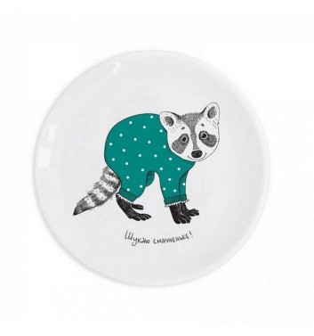 "Children plate ""Raccoon"" Orner Store Shos"
