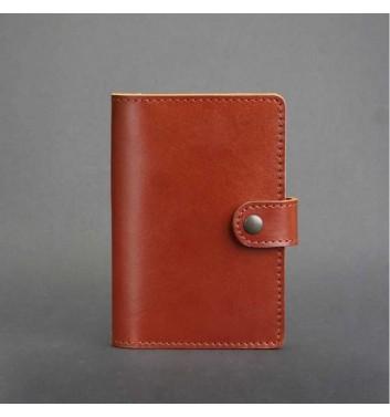 Обкладинка для паспорта 3.0 Коньяк